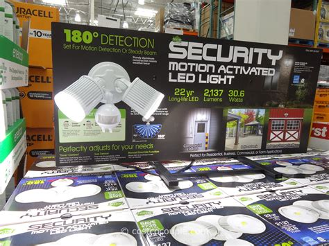 home zone led motion activated security light costco home