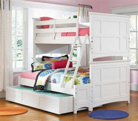 White Wooden Bunk Beds Woodworking Projects Plans Accessories For Bunk Beds