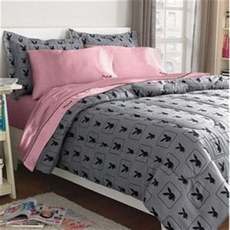 amazon com playboy 174 monogram bunny head gray 3 piece