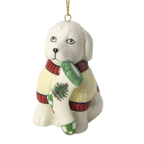 christmas tree puppy ornament by spode