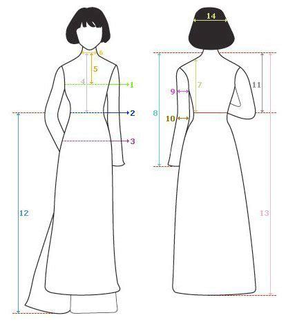 sewing pattern ao dai ao dai drawing sketch coloring page