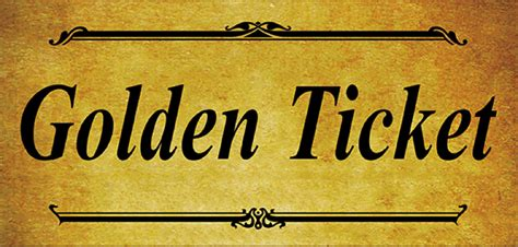 6 Golden Ticket Templates Word Excel Templates Free Golden Ticket Template Editable