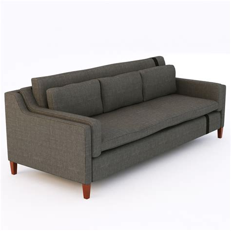 model sofa modern fabric modern sofa 3d model max obj 3ds fbx cgtrader