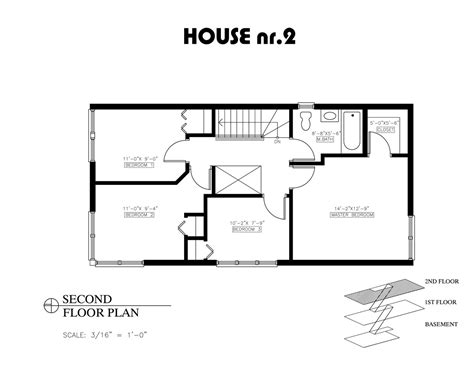 Floor Plan For Two Bedroom House | small house bedroom floor plans and 2 open plan