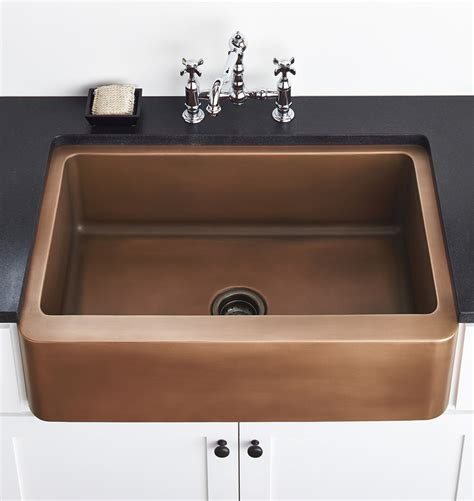 copper apron front sink apron front copper sink 33 quot x 22 1 2 quot rejuvenation