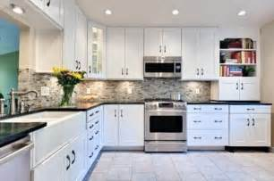 Kitchen Backsplashes With White Cabinets Decorations Kitchen Subway Tile Backsplash Ideas With