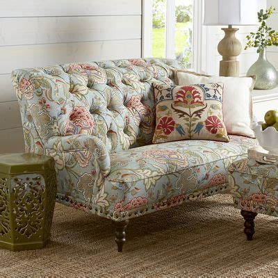 blue floral loveseat loveseats  blue