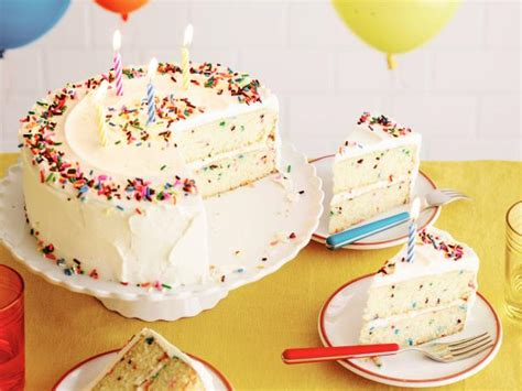 fluffy confetti birthday cake recipe food network kitchen food network