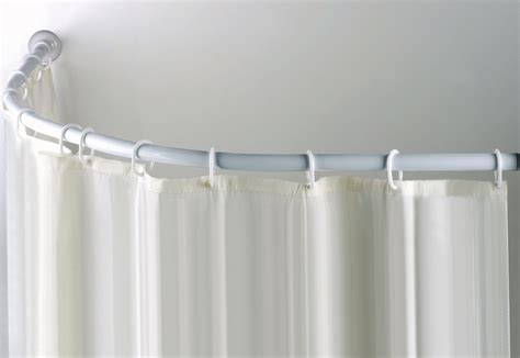 Ceiling Mounted Shower Curtain Splashy Ronbow In Bathroom