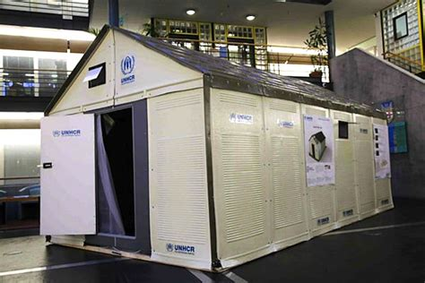 ikea syrian refugees ikea and un unveil prefab solar powered refugee shelters