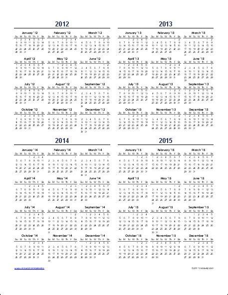 small binder calendar template a year calendar on a single page calendars and