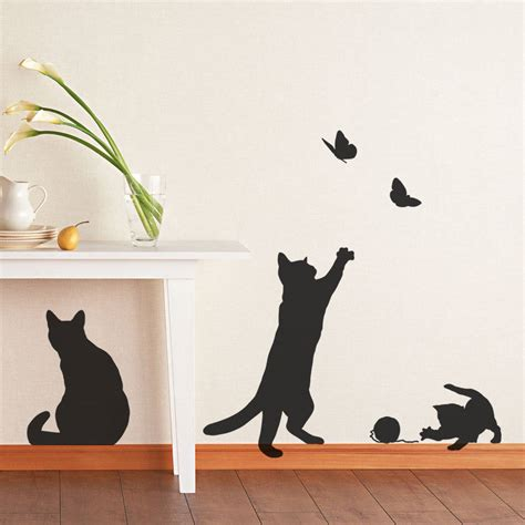 cat wall stickers cats and kittens wall stickers by statements notonthehighstreet