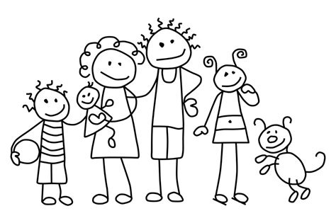 family coloring pages 4 coloringpagehub