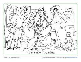 the baptist coloring page the birth of the baptist coloring page children s