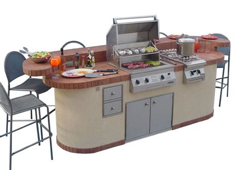 prefab outdoor kitchen island 6 fabulous prefab outdoor kitchen grill islands