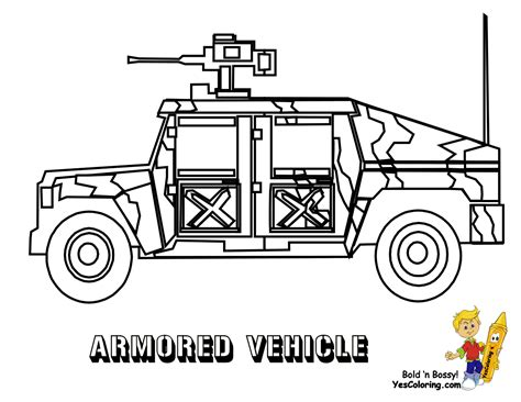 gusto army coloring pages armored vehicle http www