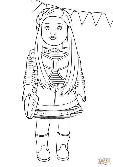 american doll coloring pages american mckenna coloring page free printable