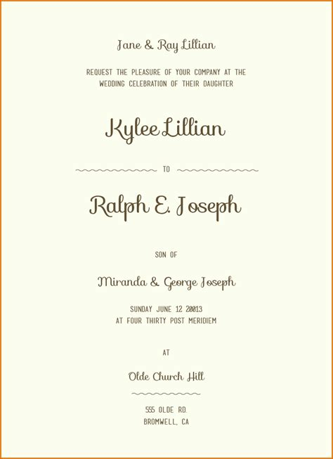 12 Sle Wording For Wedding Invitations Authorizationletters Org Wedding Invitation Wording Templates