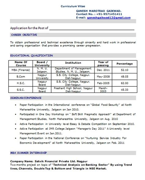 Resume Sle For Pharmacist Fresher Resume Format For Pharmacist Freshers Free Resume Templates