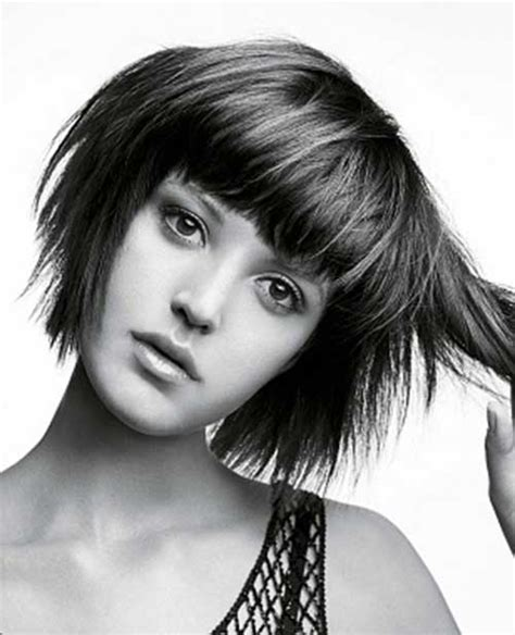 short layered choppy bobs with side bangs 15 medium layered bob with bangs bob hairstyles 2017
