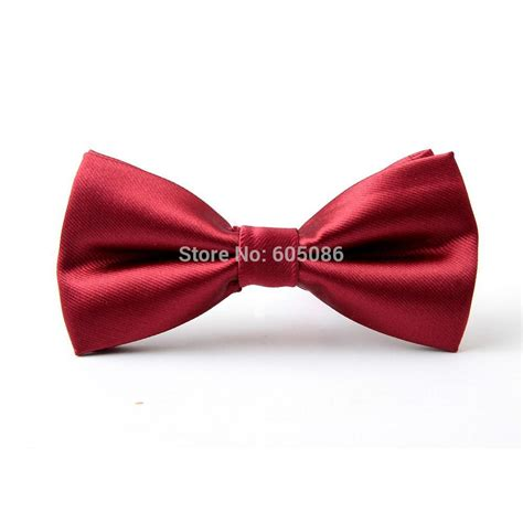 solid color wine bow tie butterfly ties for