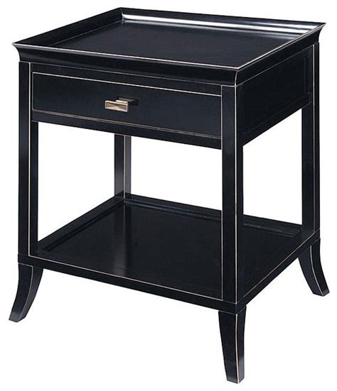 Side Table by Onyx Finish Serving Tray Accent Table