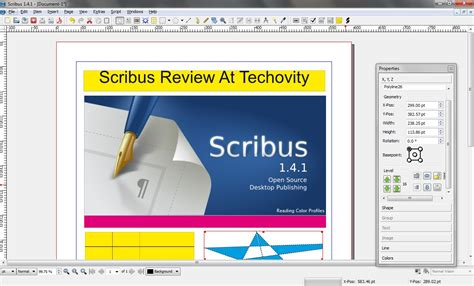 Scribus Index Card Templates by Open Source Desktop Publishing Software