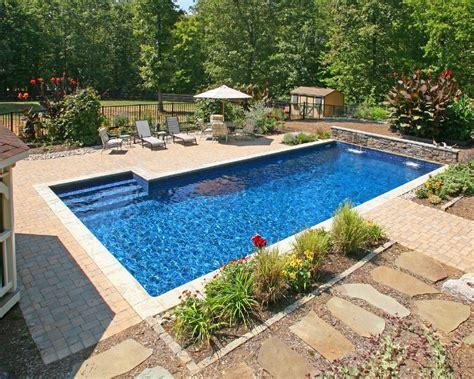 backyard pool landscaping inground pool inground pools i like the color on this