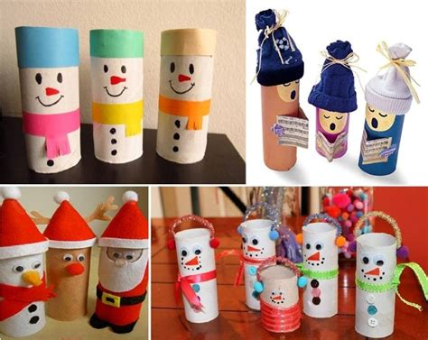 unique christmas decorations made from toilet paper rolls