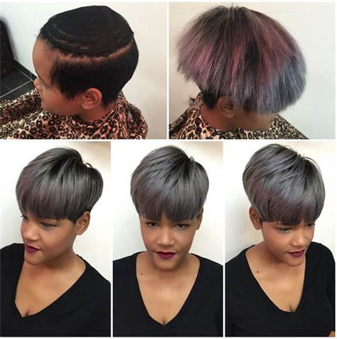 front partial weave with short hair fab weave install by hairbylatise black hair