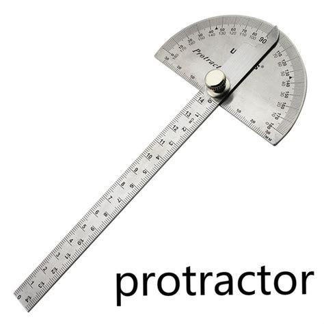 Penggaris Busur Stainless Steel Protractor aliexpress buy stainless steel ruler angle protractor woodworking multi function stainless
