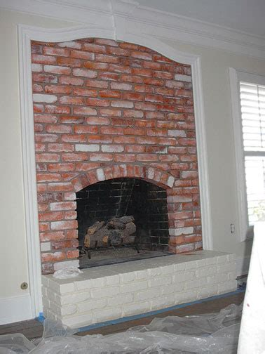faux paint brick fireplace everything i create
