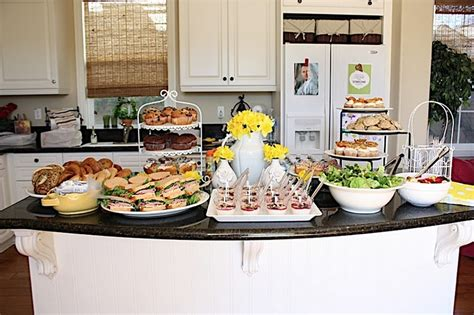 brunch setup party food setup birthday party foods ideas pinterest