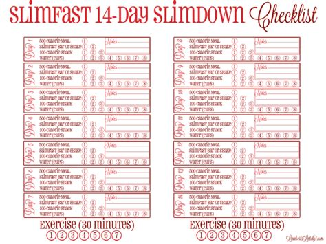 printable diet plan for quick weight loss 14 days to slim slim fast weight loss and exercises