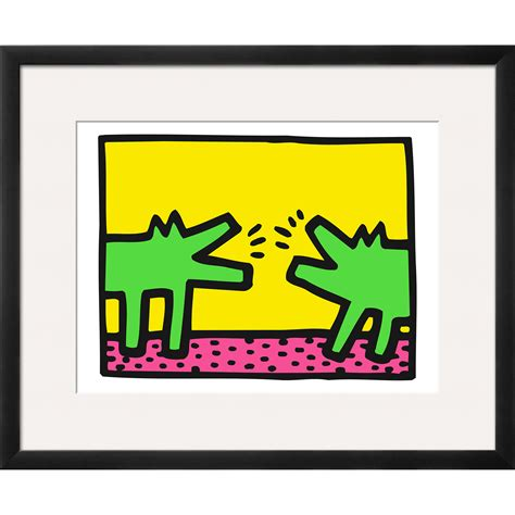 shop for dogs pop shop dogs wood mounted print keith haring touch of modern