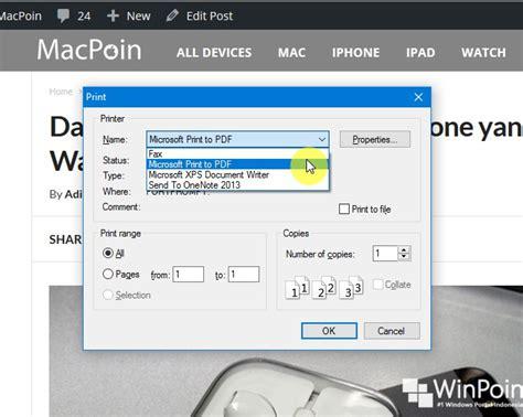 format file halaman web adalah cara menilkan format cara menyimpan halaman web sebagai file pdf di windows 10