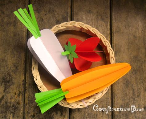 How To Make A 3d Image On Paper - craftventure time 3d paper fruits and vegetables