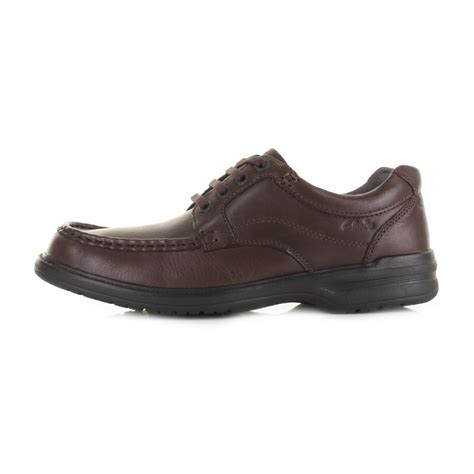 everyday comfort shoes mens clarks keeler walk brown leather lace up casual