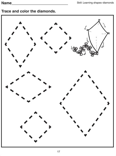 diamond coloring pages preschool basic shapes worksheets for kids kiddo shelter
