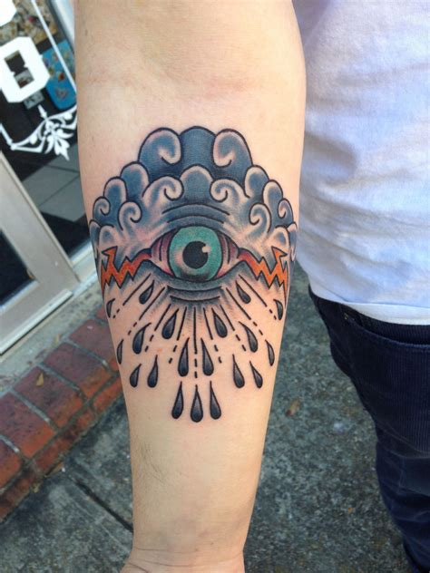 epic traditional eye of storm tattoo tattoo made by david