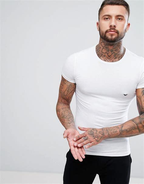 T Shirtskaos Priaemporio Armani 1 emporio armani emporio armani cotton crew neck t shirt in fit at asos