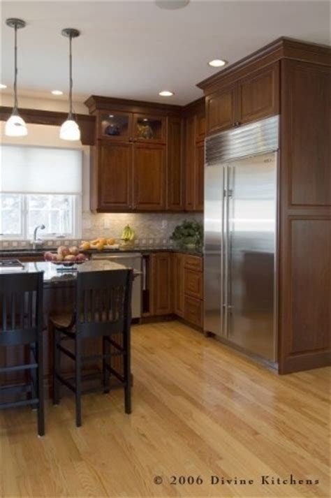 light wood floor wood cabinets kitchen