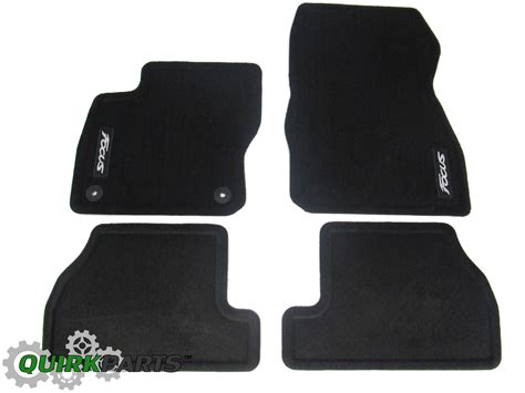 number rubber st 2012 2016 ford focus st front rear black carpet floor