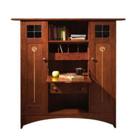 Harvey Ellis Desk by Ellis Fall Front Bookcase