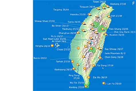 taiwan weather during new year taiwan wetterkarte