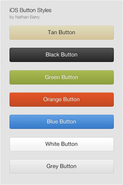 design app buttons designing buttons in ios 5 nathan barry