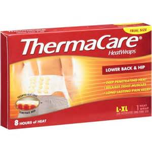 walmart heat l thermacare lower back hip heat wrap l xl 1ct walmart