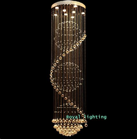 Aliexpress Com Buy Stairway Crystal Led Chandelier Ls Chandeliers Led
