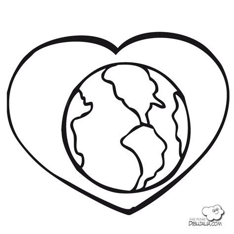 imagenes faciles para dibujar del medio ambiente amar la tierra dibujalia dibujos para colorear