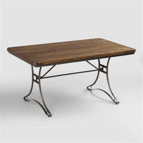 metal base dining tables jackson rectangular table with metal base world market